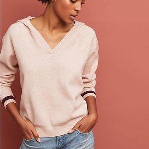 Anthropologie Sweatshirt Soft V-Neck Hooded